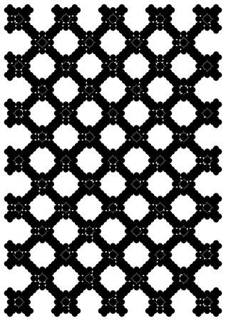 metal lattice: Metal black lattice in an ancient palace. Illustration