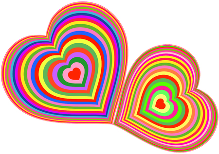 Heart in love networks. Love a life symbol on the earth. Vector