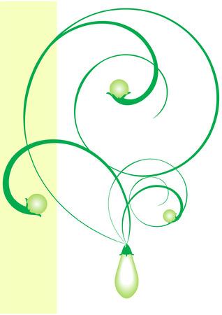 jeweller: Illustration of a symbolical jeweller ornament. The set beginning. Illustration