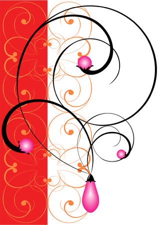Illustration of a symbolical jeweller ornament. The set beginning. Illustration