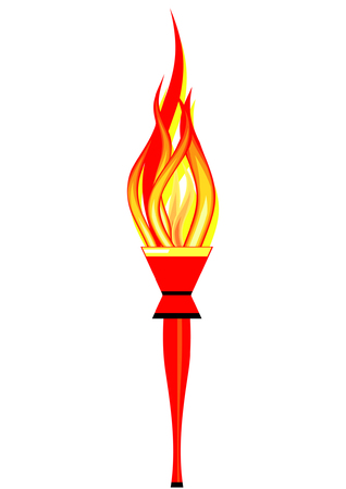 Burning torch. An illustration of a burning torch.