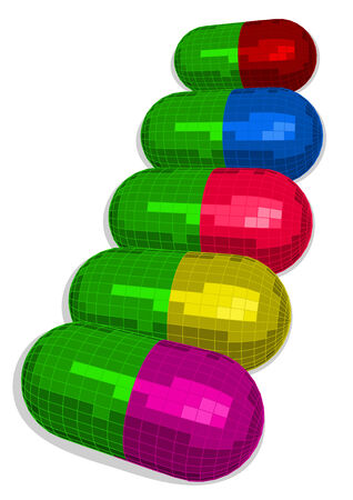 multicolored capsules for an Vector