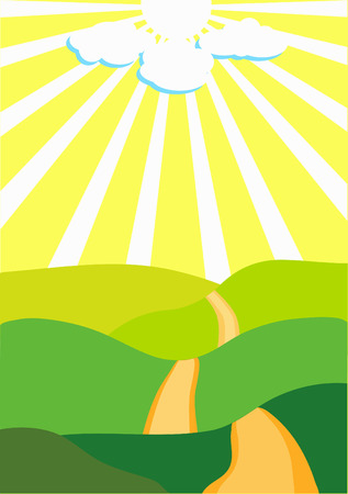 sunny day illustration Vector