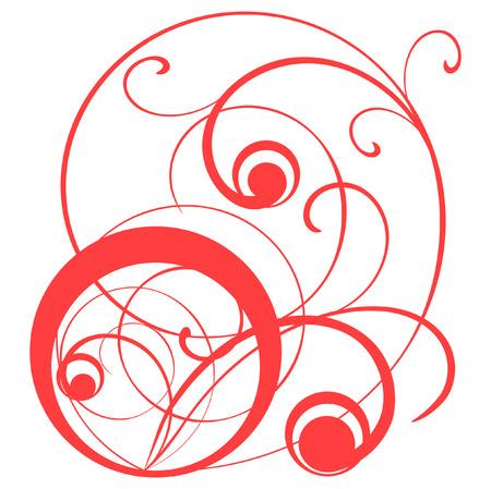 illustration of a symbolical jeweller ornament.  Illustration