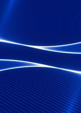 Abstract illustration of a neon blue luminescence illustration