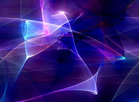 Abstract illustration of a neon blue luminescence