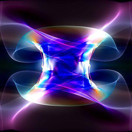 Abstract illustration of a neon multicolor luminescence illustration