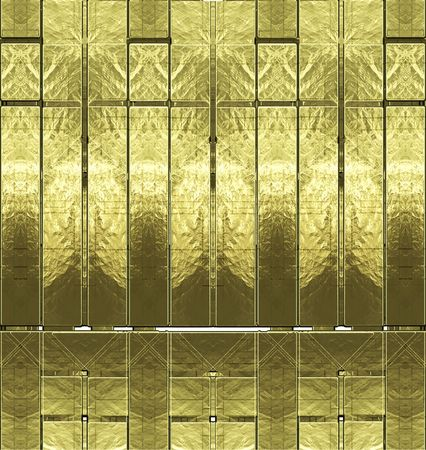 The abstract image of a brilliant gold wall, gold foil Stock Photo - 5332468