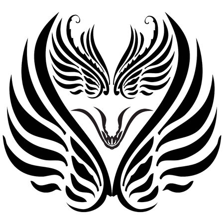 Beautiful drawing which can be used for a tattoo. Vector