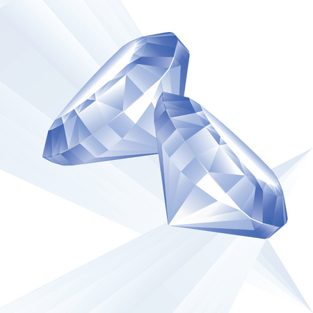 sapphire: Illustration of two blue brilliants on a white background Illustration