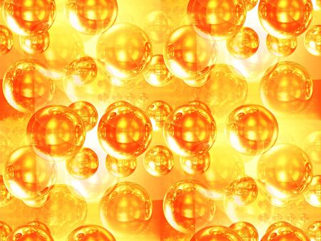 The abstract image, illustration of a set of gold spheres Stock Illustration - 5984786