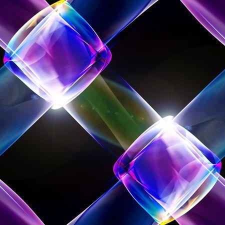 Abstract Illustration des Leuchtens Neon multicolor