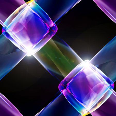 Abstract illustration of a neon multicolor luminescence
