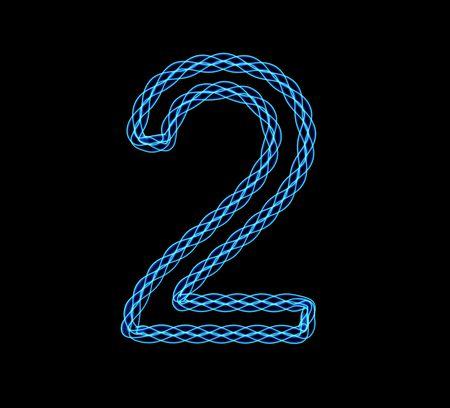 Abstract illustration of a neon blue luminescence Stock Illustration - 6520041