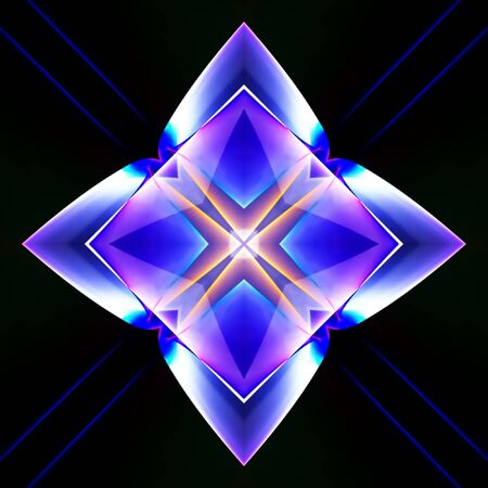 luminescence: Abstract illustration of a neon multicolor luminescence