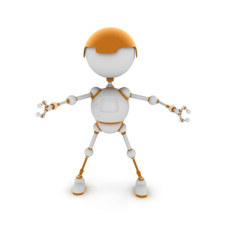 The fantastic character, the robot consisting of an electric wire, a toy. photo