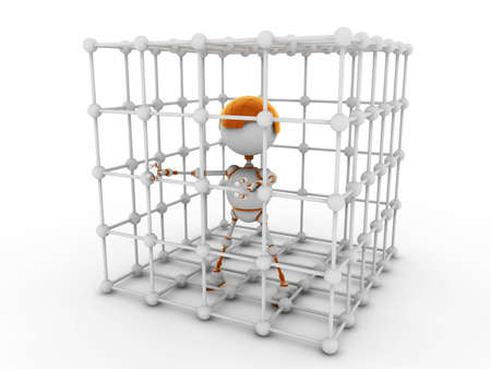 part prison: The fantastic character, the robot consisting of an electric wire, a toy.