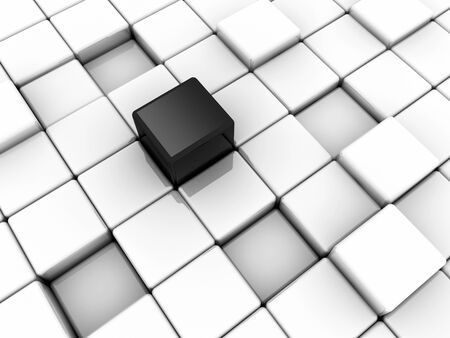 Surface consisting of  3d white and black squares photo
