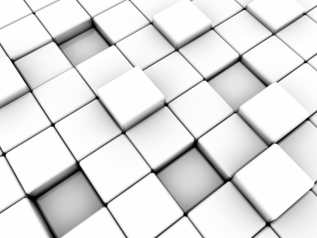 Surface consisting of white and black squares photo