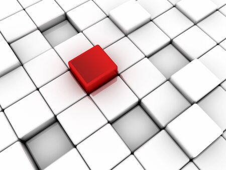 Surface consisting of red and black squares photo