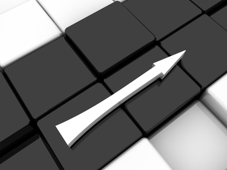Surface consisting of 3d black and white squares photo