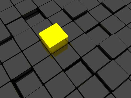 Surface consisting of gold and black squares photo