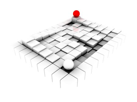 Surface consisting of white  squares photo