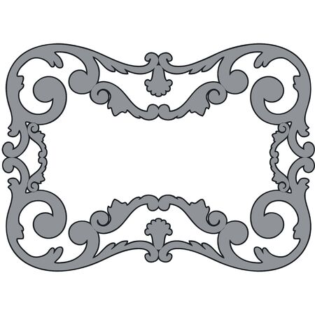 framework, the sculptural form on a white background Vector