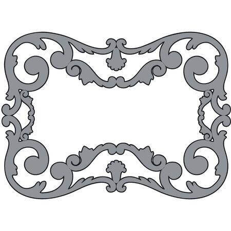 molding: framework, the sculptural form on a white background Illustration