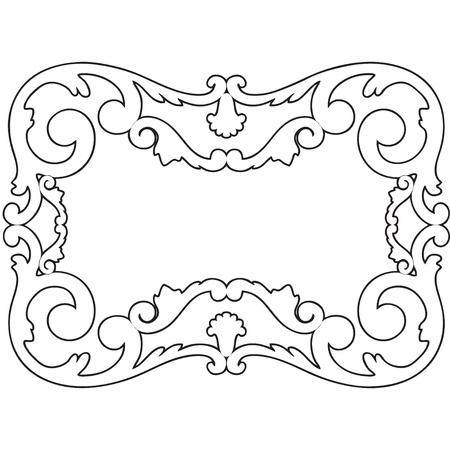 black and white illustration framework Vector