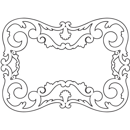 carve: Ilustraci�n en blanco y negro marco