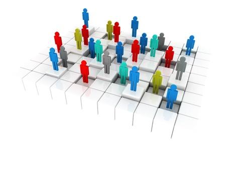 desigualdad: 3d ilustraci�n que representa una desigualdad social en los negocios y en una vida