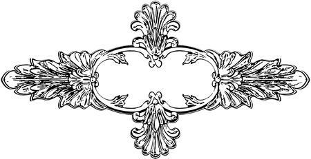 moulding: Vector illustration vintage ornament on a white background