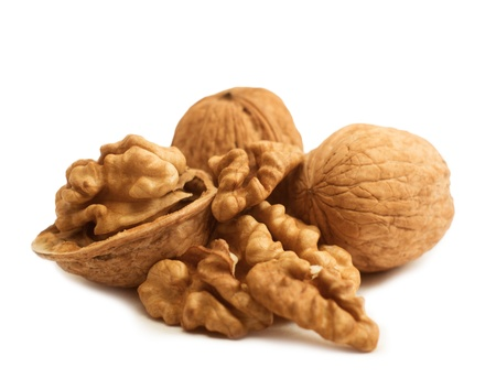 Walnut isolated on white background Stock Photo - 16450292