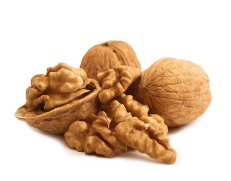 Walnut isolated on white background Stock Photo - 16450292