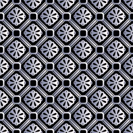 銀の抽象的なシームレス パターン、金ビンテージ ベクトルの背景 EPS 10
