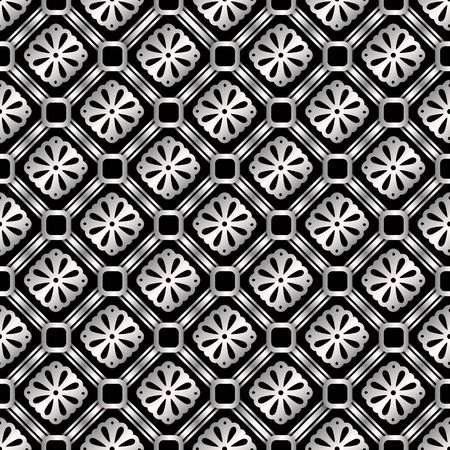 Stainless steel abstract seamless pattern, vintage vector background EPS 10