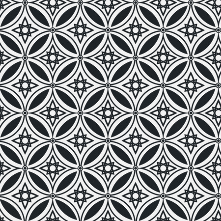 abstractionism: Abstract ethnic geometric vector monochrome seamless pattern on a light background . EPS 10. Illustration