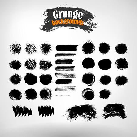 grunge banner: Vector set grunge painted elements. Vector grunge background. Grunge banner. Grunge texture. EPS 10.