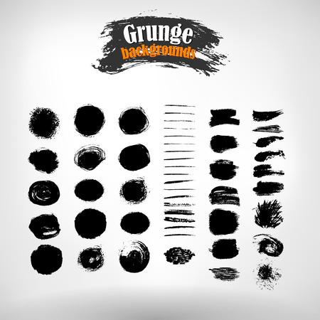 grunge banner: set grunge painted elements.  grunge background. Grunge banner. Grunge texture. EPS 10. Illustration