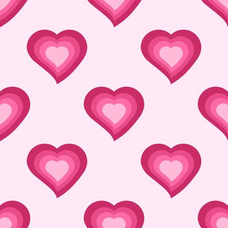 Vector seamless pattern avec des coeurs roses mignons Banque d'images - 69470631
