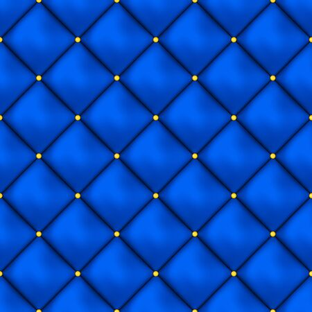Vector seamless buttoned leather pattern vector. Upholstery or walls.
