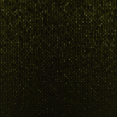 Vector abstract background with numbers one and zero on a dark background