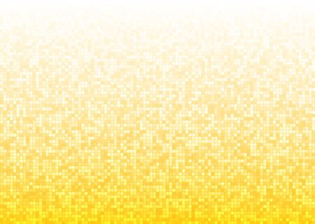 seventies: Abstract bright mosaic gradient yellow background
