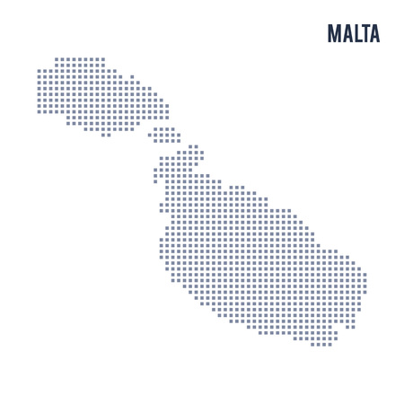 maltese map: Vector pixel map of Malta isolated on white background . Travel vector illustration Illustration