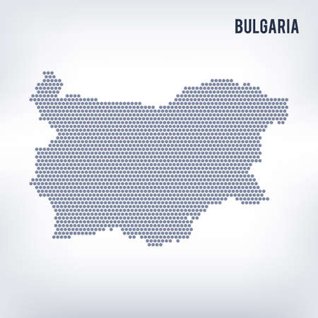 bulgarian: Vector hexagon map of Bulgaria . Business space in the country