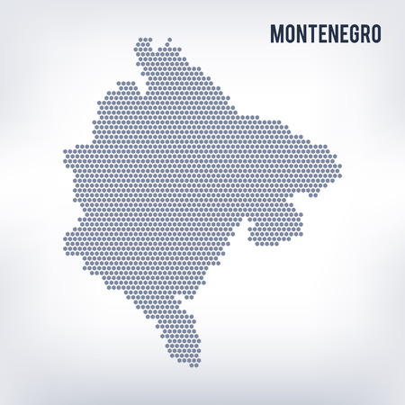 Vector hexagon map of Montenegro . Business space in the country