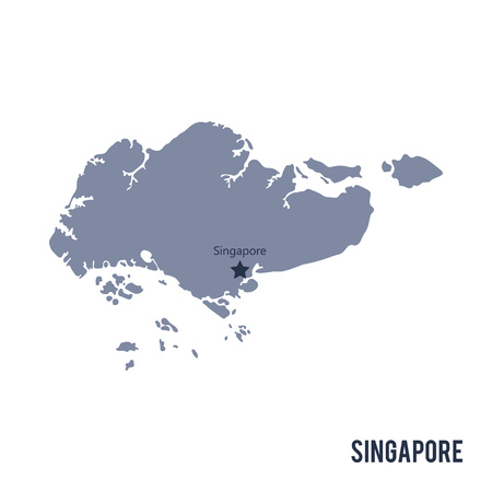 121 Singapore Vector Map Stock Vector Illustration And Royalty