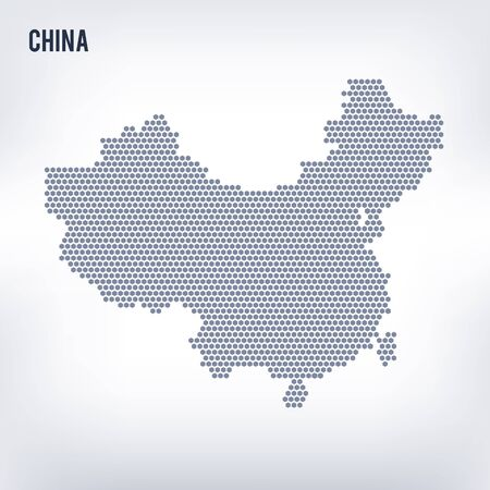 Vector hexagon map of China . Business space in the country