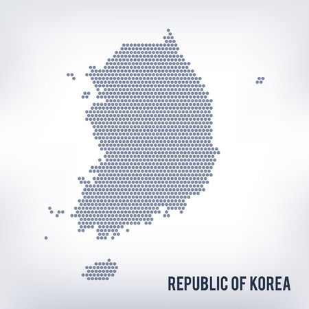 Vector hexagon map of Republic of Korea. Business space in the country